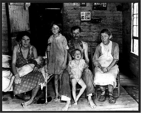 An analysis of the families during the great depression of the 1930s
